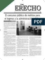 EL CONCURSO PÚBLICO DE MÉRITOS - JOSÉ MARÍA PACORI CARI