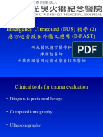 EUS教學(2)。急診超音波在外傷之應用 (E-FAST)