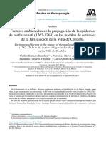 Serrano, Carlos; Bravo, Verónica; Et. Al (2016), Factores Ambientales en La Propagación de La Epidemia Matlazahuatl (1762 - 1763) en Los Pueblos de Naturales de La Jurisdicción de La Villa de Córdoba