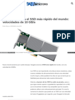 Seagate Anuncia El SSD Más Rápido Del Mundo