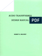 Audio Transformer Design Manual - Robert G. Wolpert (2004)