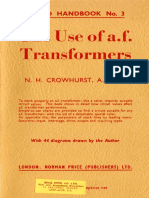 Audio Handbook No.3 - The Use of Audio Frequency Transformers - Norman H. Crowhurst (1953) Clearscan