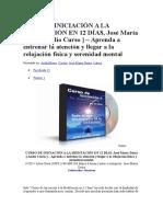 Curso de Iniciación a La Meditación en 12 Días