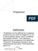 Projection- parallel and perspective