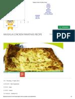 Mughlai Chicken Parathas Recipe