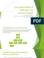 Factores Asociados Al Indicador de Productividad