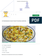 Hyderabadi Dum Pukht Murgh Biryani Recipe