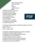 Identifique Os Substantivos Presentes Nas Frases