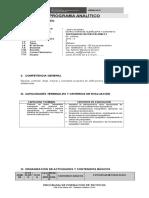 Programa Analitico Edificaciones 1