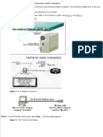 Establish a HyperTerminal Connection With a Device