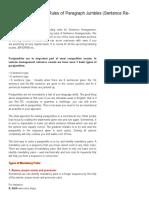 Bankers Adda_ Mission IBPS Exam _Rules of Paragraph Jumbles (Sentence Re-Arrangement)
