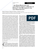 applications of the dose-response for muscular strength development- a review of meta-analytic efficacy and reliability for designing training prescription