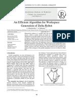 An Efficient Algorithm for Workspace Generation of Delta Robot