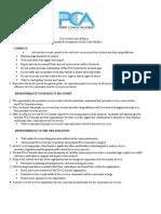 PCA Code of Ethics
