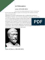 10 Famous Greek Philosophers