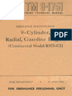 TM 9-1751 9-Cylinder, Radial, Gasoline Engine (Continental Model R975-C1) 1944