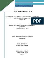 Sfm400 Assignment 1