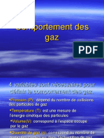 comportement du gaz