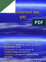 comportement du gaz