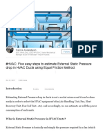 #HVAC_ Five Easy Steps to Estimate External Static Pressure Drop in HVAC Ducts Using Equal Friction Method