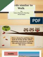 Different Ways to Walk