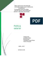 Politica Salarial