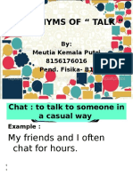 Synonyms of Talk