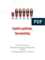 Emotiile in Publicitate Si Neuromarketing