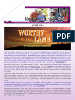 WORTHY LAMB - Rejoice Ministriesnewsletter_april_2014