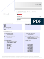 FR-LG-078816 Plaque Programme Mosaic - 6 Modules - Horizontal - Blanc