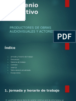 Convenio Colectivo Productores de Obras y Actores FOL