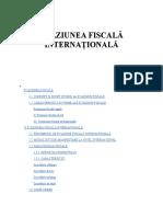Evaziunea Fiscală Internațională (Finante)