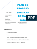 Plan de Trabajo de Servicio Social Año 2016 (1)