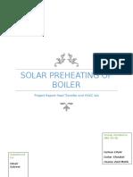 Project Report Boiler-solar prehating
