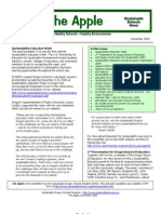 The Apple Newsletter, August 2009, Sustainable School News