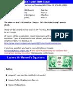 L19 Maxwell Equations