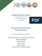 Programma della Candidata Sindaco Rosaria Ciancaione