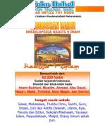 Brosur CD Hadits 9 Imam
