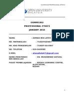 OUMM3203 PROFESIONAL ETHICS (AHMAD LATEH).doc