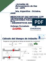 Medicion de Gas Natural Con Tecnologia Ultrasonica En