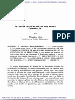 La Nueva Regulacion de Los Bienes Comunales Alejandro Nieto
