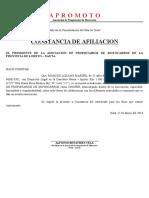 APROMOTO CONSTANCIA DE AFILIACION - 2016.docx