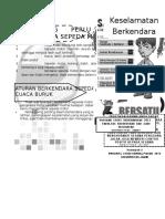 Leaflet keselamatan berkendara Polantas