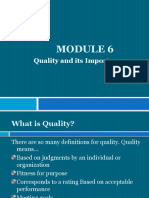 Module 6 - Quality and Its Importance in an Organization