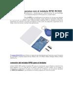 El Control de Acceso Con El Módulo RFID RC522