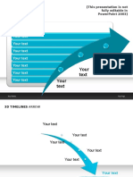 Slideshop 3D Timeline Arrow Blue