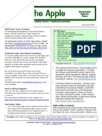 The Apple Newsletter, July-August 2007, Sustainable School News