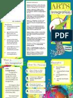 arts integration brochure