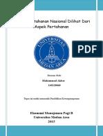 Analisis Ketahanan Nasional Dilihat Dari Aspek Pertahananc
