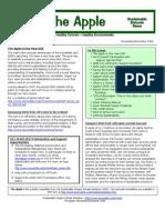 The Apple Newsletter, November-December 2006, Sustainable School News